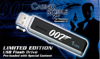 James Bond 007 USB flash drive
