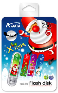 A-Data Christmas flash drive
