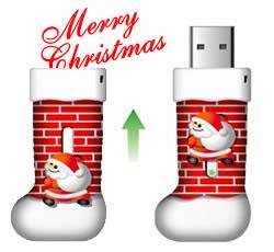 santa flash drive