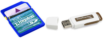 kingston flash drive secure digital card