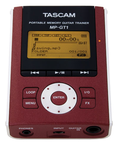tascam mp3 guitar trainger