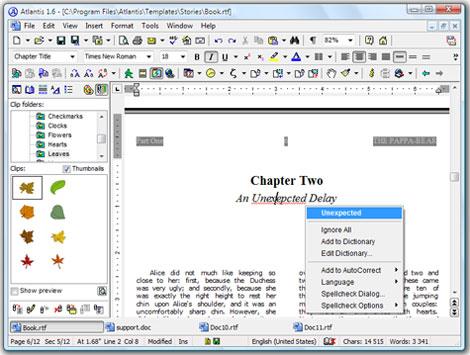 u3 atlantis word processing