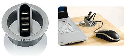 Belkin USB desk grommet