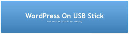 wordpress on usb stick homepage