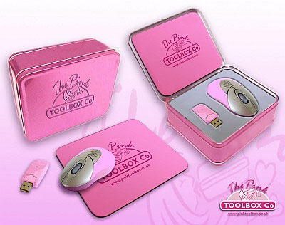 usb pink pc mouse