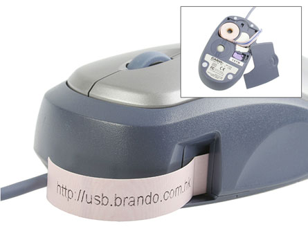usb mouse label maker