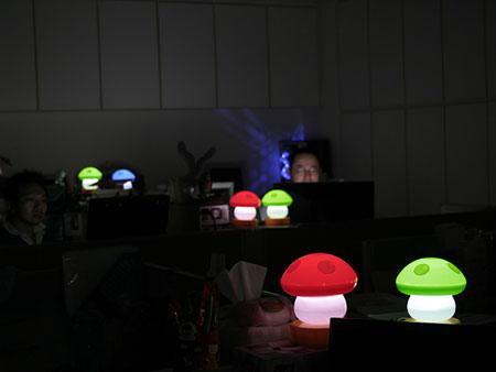 usb mushroom light