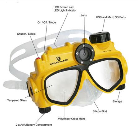 usb underwater snorkel mask
